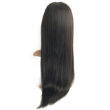Black Straight Hd Invisible Swiss Lace Front Wig Brazilian Virgin Human Hair - Luckin Wigs