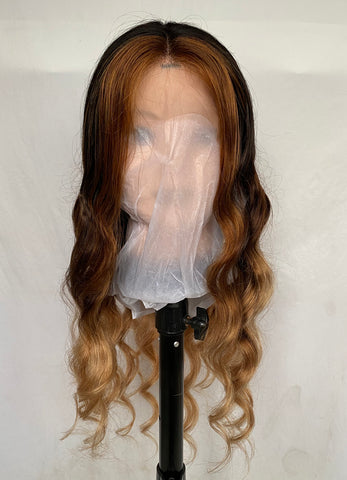 "Ombre Human Hair Body Wave Glueless Lace Front Wigs 20"" - Luckin Wigs"