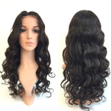 "Brizilian Virgin Human Hair Full Lace Wigs 20"" Body Wave Natural Black - Luckin Wigs"