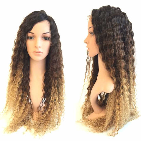 Kinky Curly 1b 4 27 Ombre Fashion Hd Full Lace Wigs - Luckin Wigs