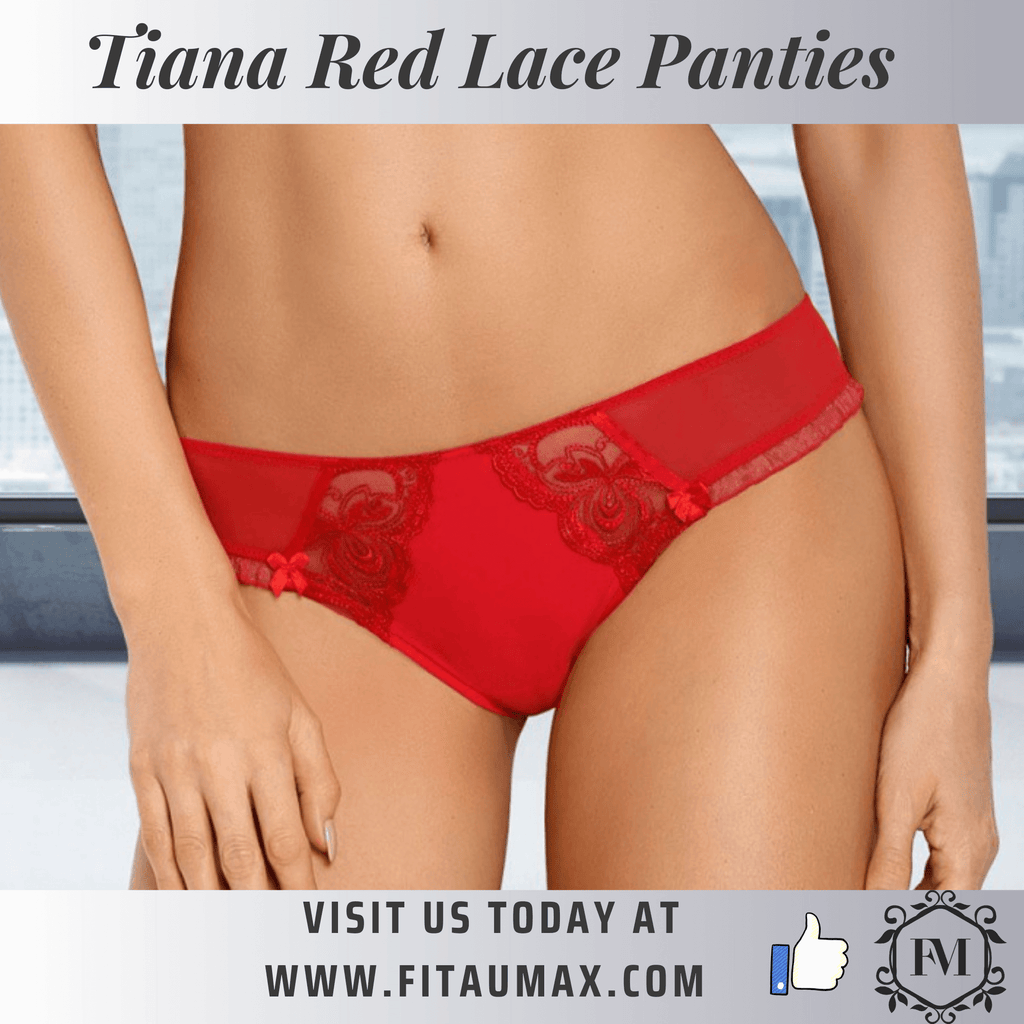 red lace panties