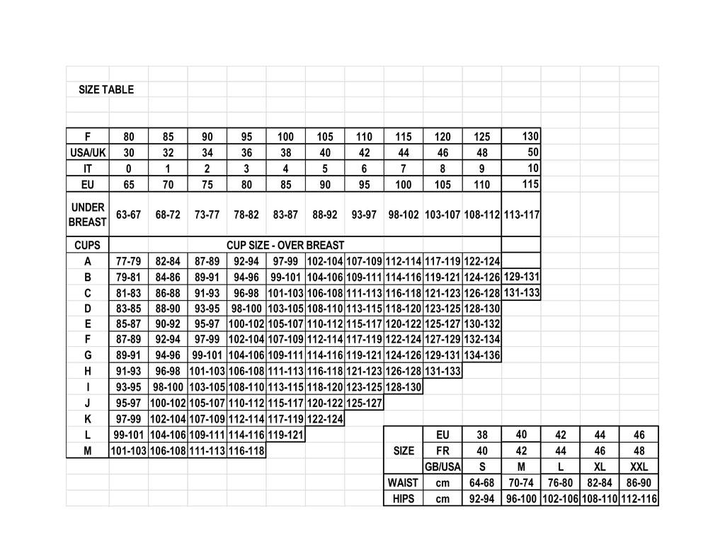 SIZING CHART | <TITLE OF STORE>