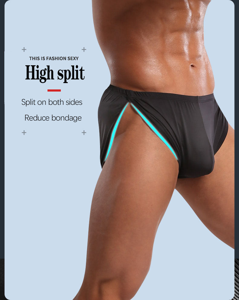 The 2nd Superior Ice Silk Side Split Sexy Men's Shorts - versaley