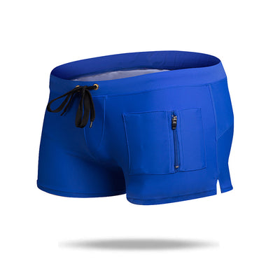 Fashion Quick Dry Men's Swim Trunks  with Zipper Pockets - versaley