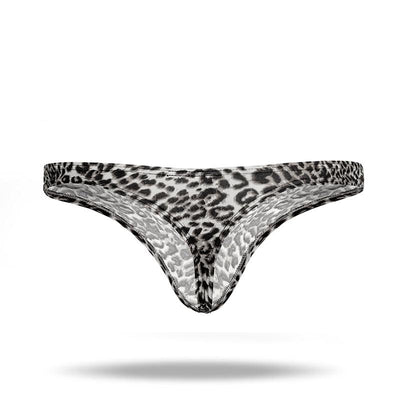 Ice Silk Men's Leopard Thong - versaley