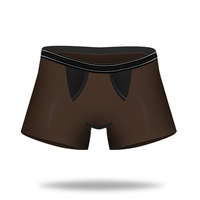 Bamboo Fabric Breathable Dual Pouch Men's Trunk - versaley