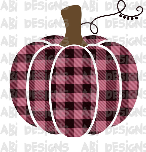 Pink and Black Pumpkin- Sublimation