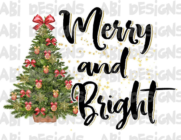 Merry & Bright -Sublimation