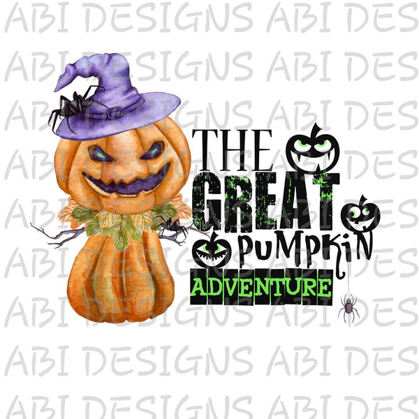 The Great Pumpkin Adventure-Sublimation