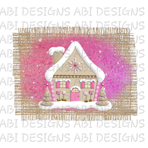 Gingerbread house- Sublimation