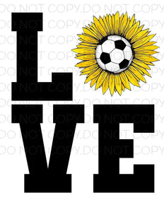 Love Soccer- Sublimation