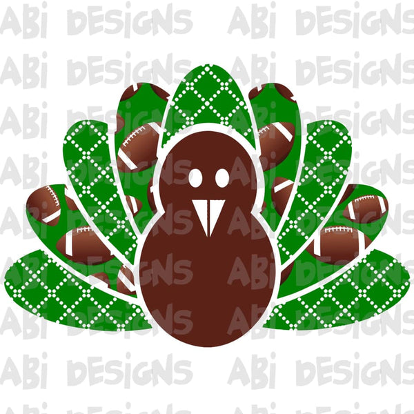 Green football turkey- Sublimation