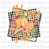 Happy Fall- Sublimation