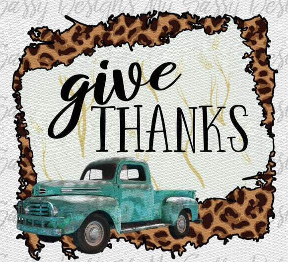 Give Thanks- Sublimation