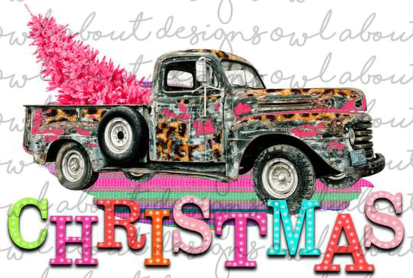 Christmas Truck- Sublimation