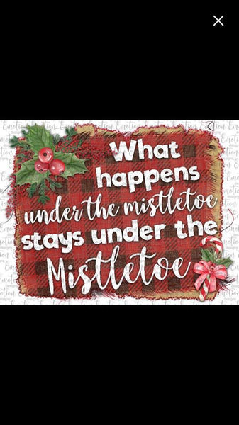 What happens under the mistletoe- Sublimation
