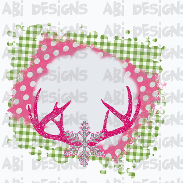 Pink Deer Frame- Sublimation