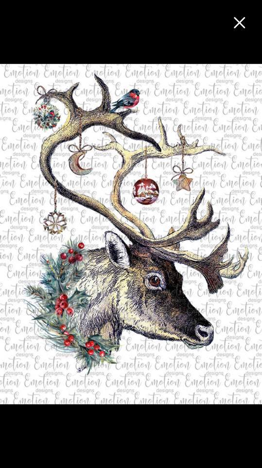 Christmas Deer- Sublimation