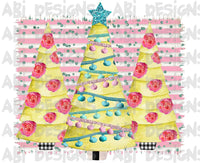 Pastel Christmas Trees- Sublimation