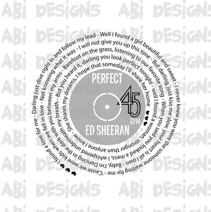 Perfect Ed Sheran- Sublimation