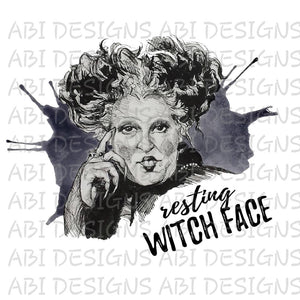 Resting Witch Face- Sublimation