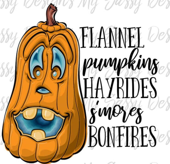 Flannel Pumpkins- Sublimation