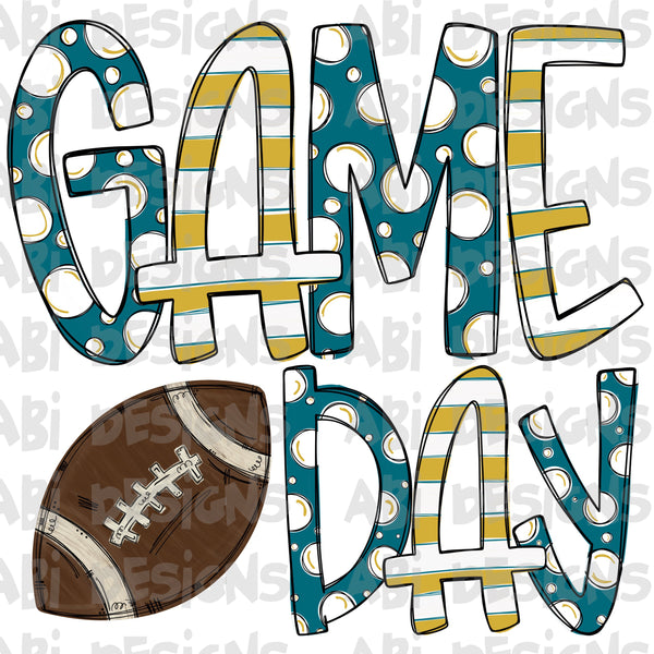 Blue And Yellow Game Day- Sublimation