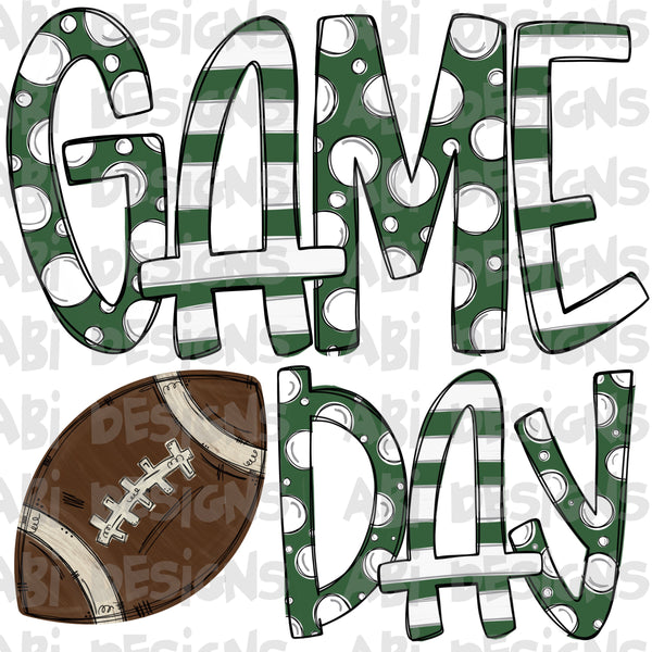 Green And White Game Day- Sublimation