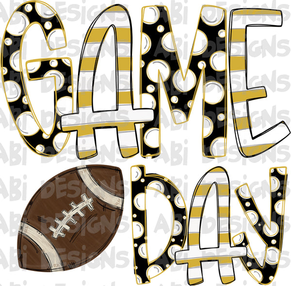 Black and Yellow Game Day- Sublimation