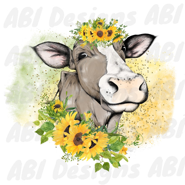 Sunflower Cow - Sublimation
