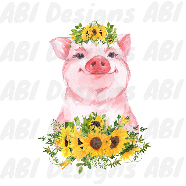 Sunflower without wings pig - Sublimation