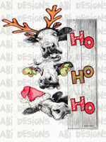 Ho Ho Ho Christmas cows -Sublimation