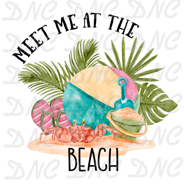 Meet me at the beach -Sublimation