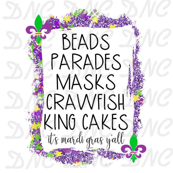 Beads parade masks- Sublimation