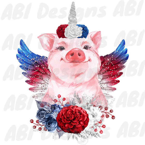 Fourth of july pig - Sublimation