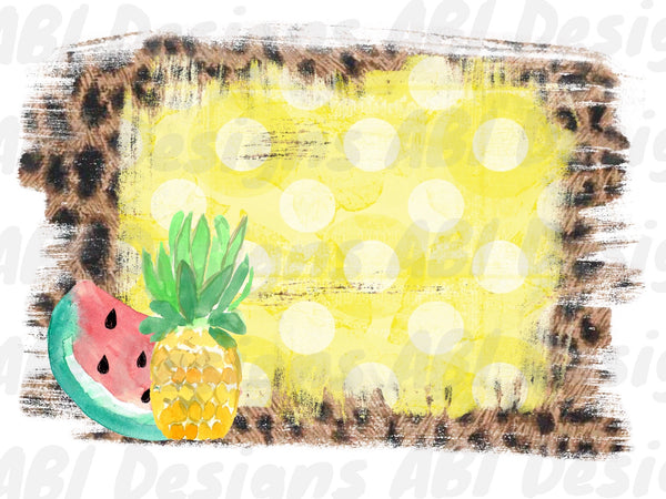 Pineapple And Watermelon Background Sublimation Abi Designs Transfers Blanks
