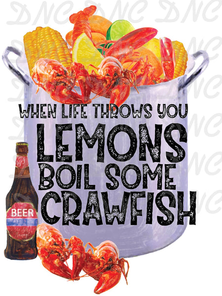 Boil some crawfish  - Sublimation