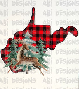 West Virgina Buffalo Plaid - Sublimation