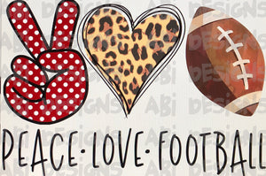 Peace love football-red- Sublimation