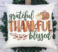 Grateful thankful Blessed - Sublimation
