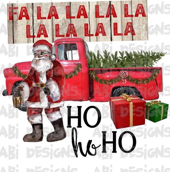 Fa la la la ho ho ho -Sublimation