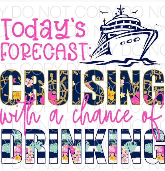 Today's forecast cruising chance of drinking  -Sublimation