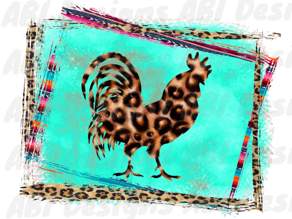 Leopard rooster - Sublimation