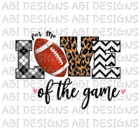 For The Love Of The Game -Sublimation