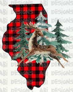 Illinois Buffalo Plaid - Sublimation