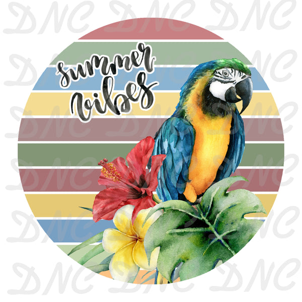 Parrot summer vibes -Sublimation