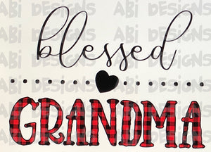 Blessed Grandma - Sublimation