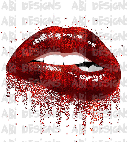 Red Glitter lips -Sublimation