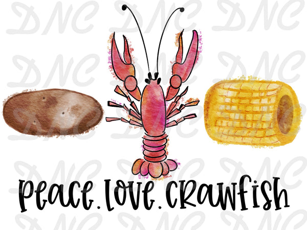 Peace love crawfish - Sublimation