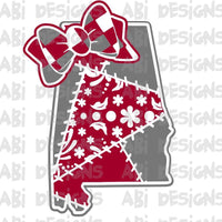 Alabama with a bow - Sublimation
